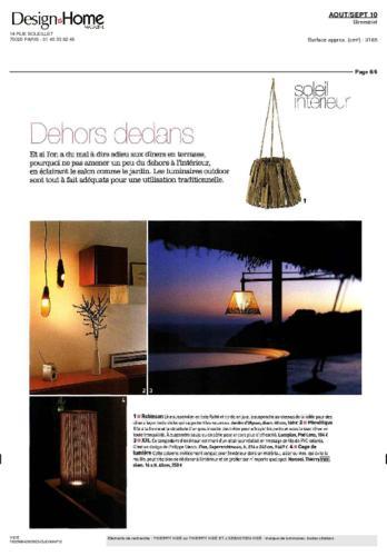 Design Home MagazineThierry Vidé juillet 2010