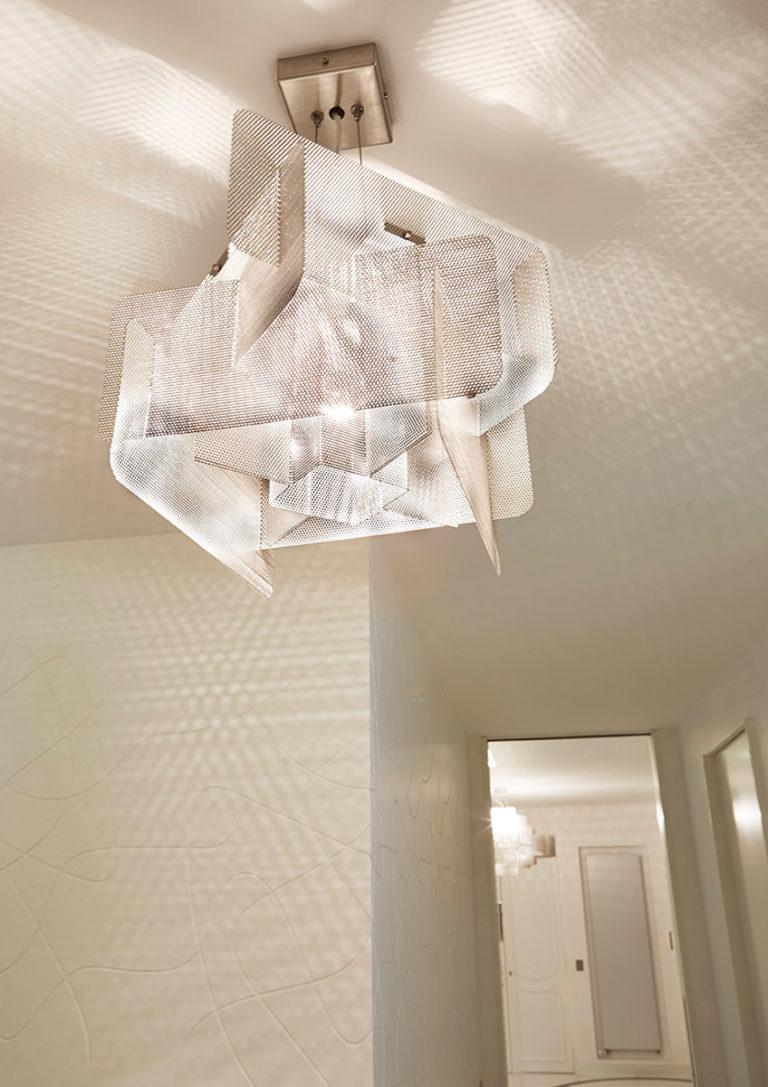Luminaire Suspension Cube couloir Thierry Vidé Design