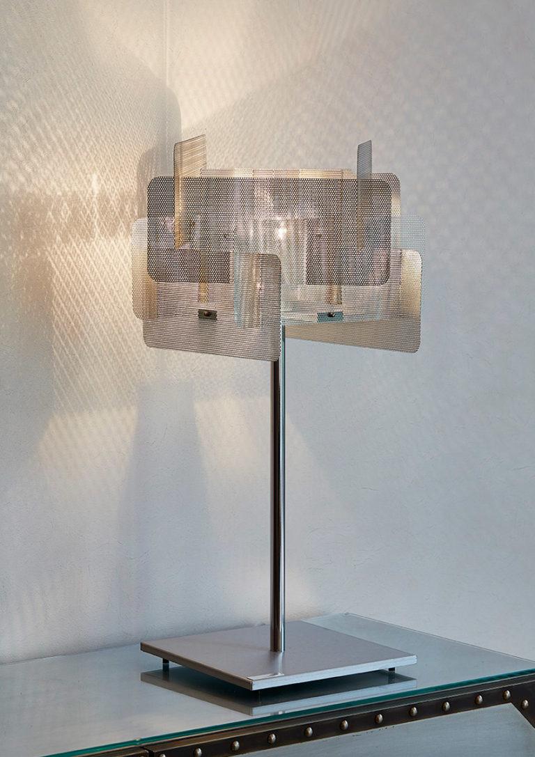 Luminaire lampe à poser Cube grande Thierry Vidé Design