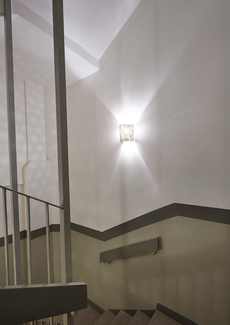 Lighting Wall lamp half moon stairwell Thierry Vidé Design