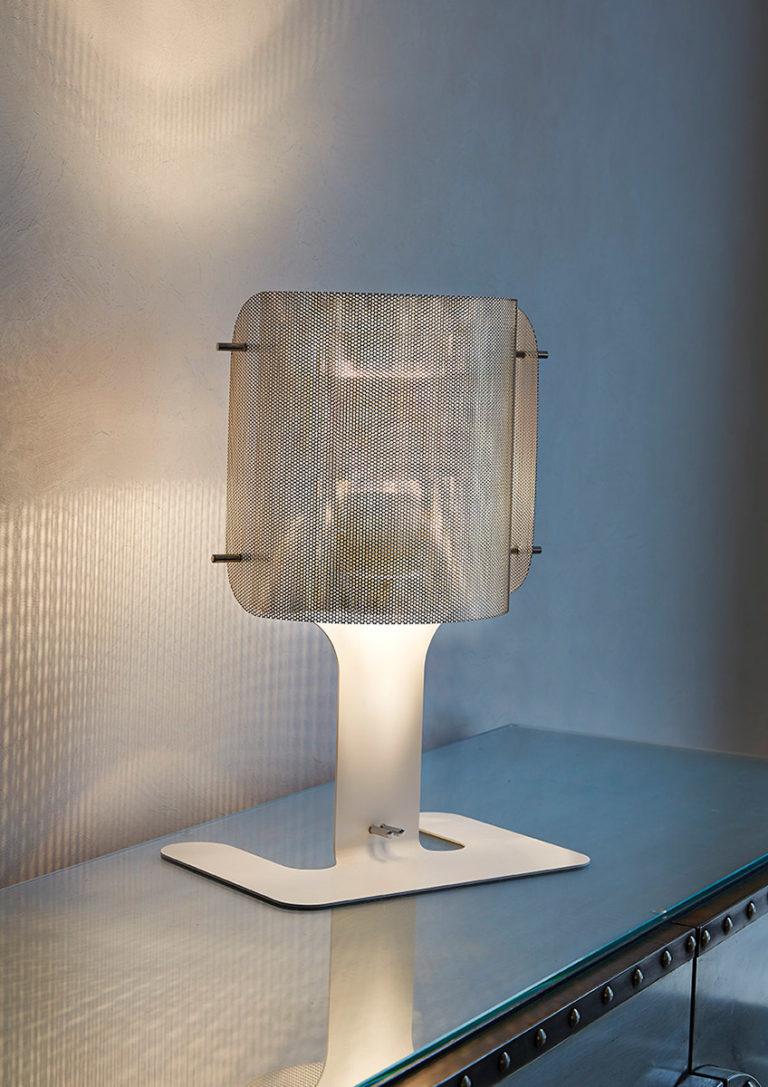 Lighting ellipse lamp white Thierry Vidé design