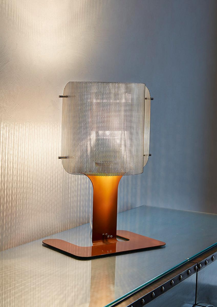 Luminaire lampe à poser ellipse café Thierry Vidé Design