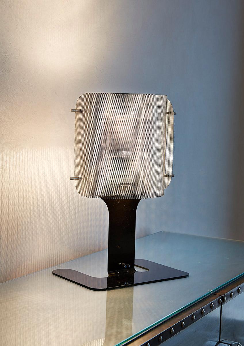 Luminaire lampe à poser ellipse noir Thierry Vidé Design