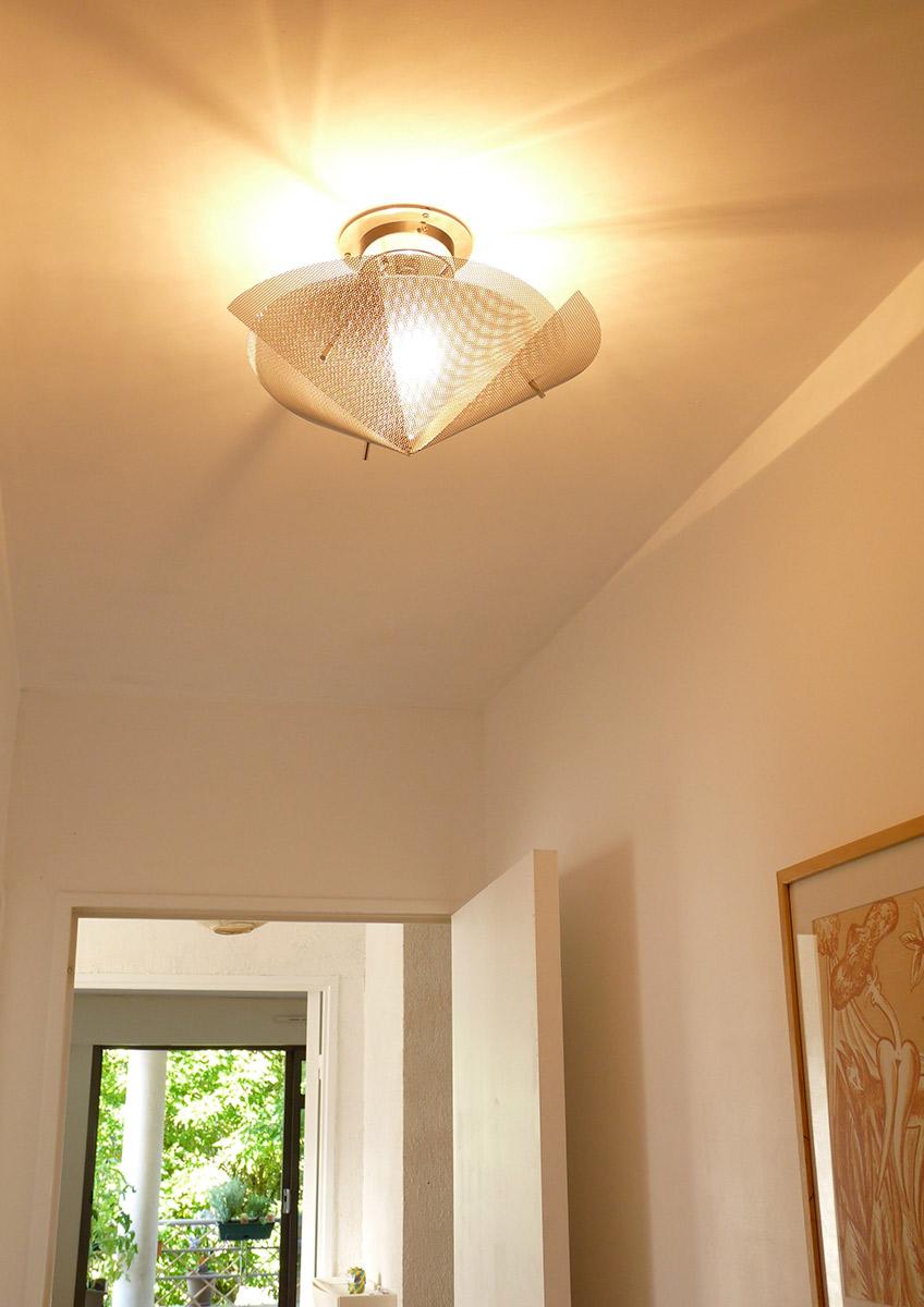 Luminaire plafonnier grande Étoile couloir Thierry Vidé design