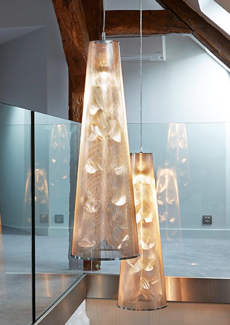 Luminaire Suspension Florale escalier Thierry Vidé Design