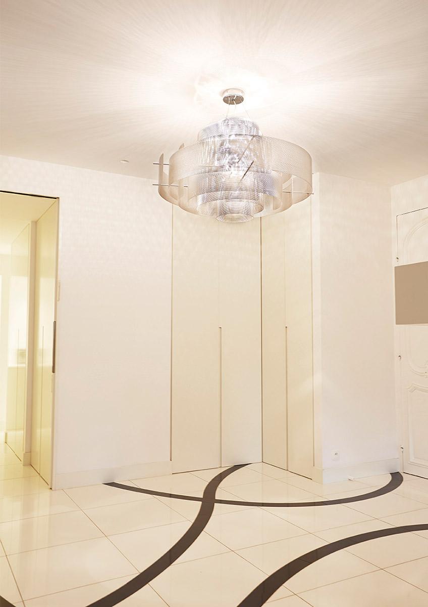 Luminaire Suspension Galaxie modèle medium appartement Thierry Vidé Design