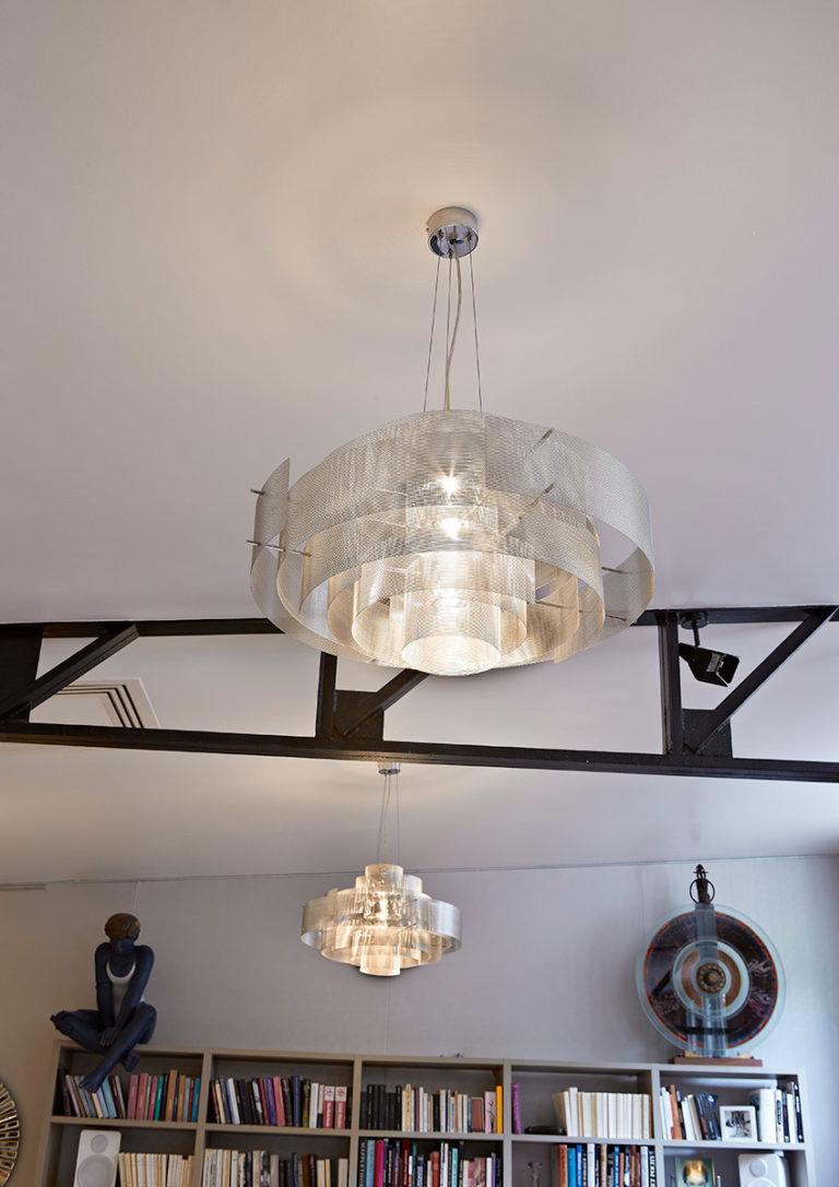 Luminaire Suspension Galaxie petit salon Thierry Vidé Design