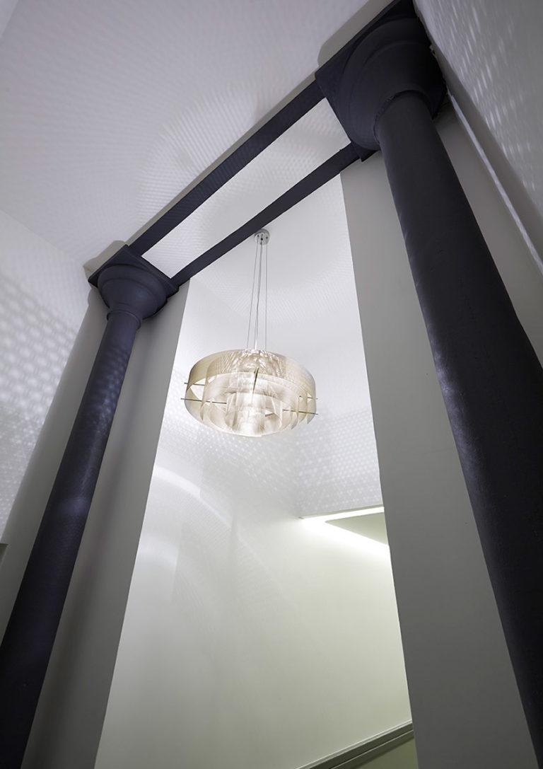 Luminaire Suspension Galaxie petit hall d'entrée Thierry Vidé Design