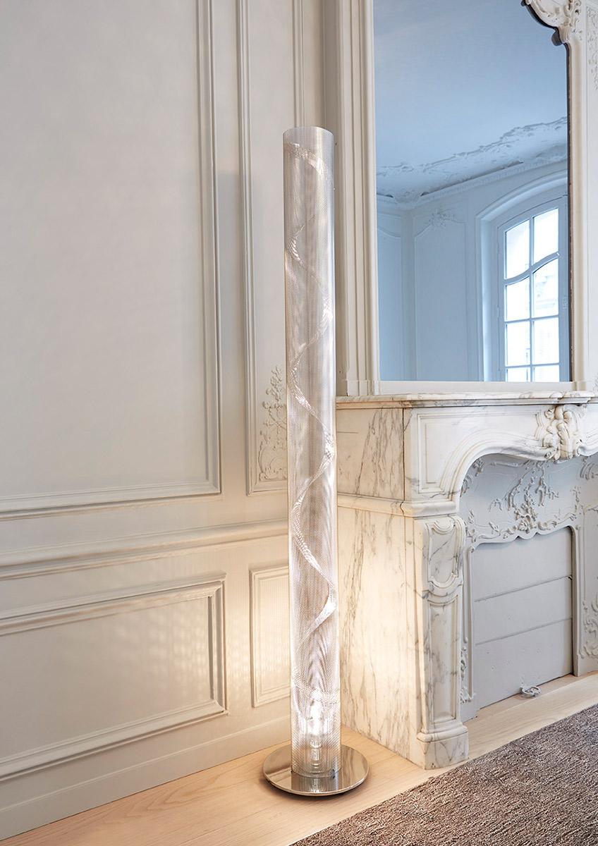 Luminaire lampe de salon petite colonne spirale Thierry Vidé DesignLuminaire lampe colonne bureau Grande Colonne Spirale Thierry Vidé Design
