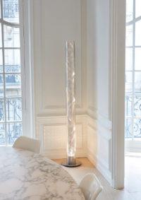 Luminaire lampe de sol grande colonne spirale Thierry Vidé Design