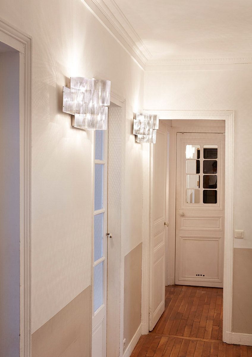 Lighting Cloud wall lamp in a corridor Thierry Vidé Design