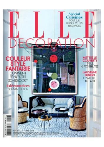 Elle Magazine Thierry Vidé octobre 2014