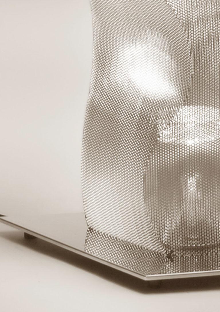 Luminaire Colonne Suculpture Lumineuse Onde Bois Colombes focus Thierry Vidé Design