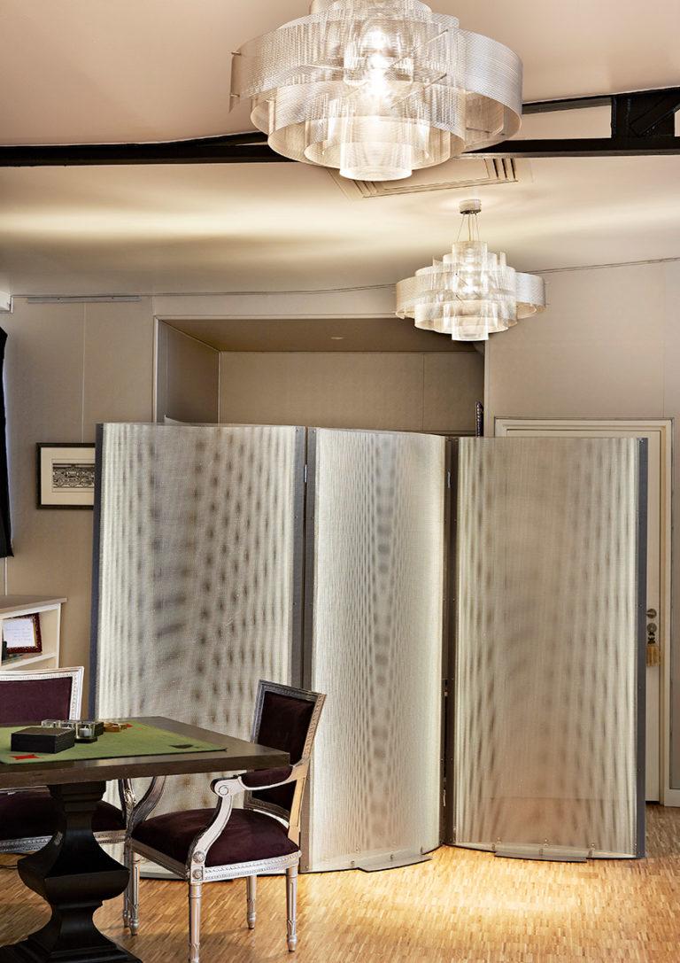 Luminaire paravent design appartement Thierry Vidé Design