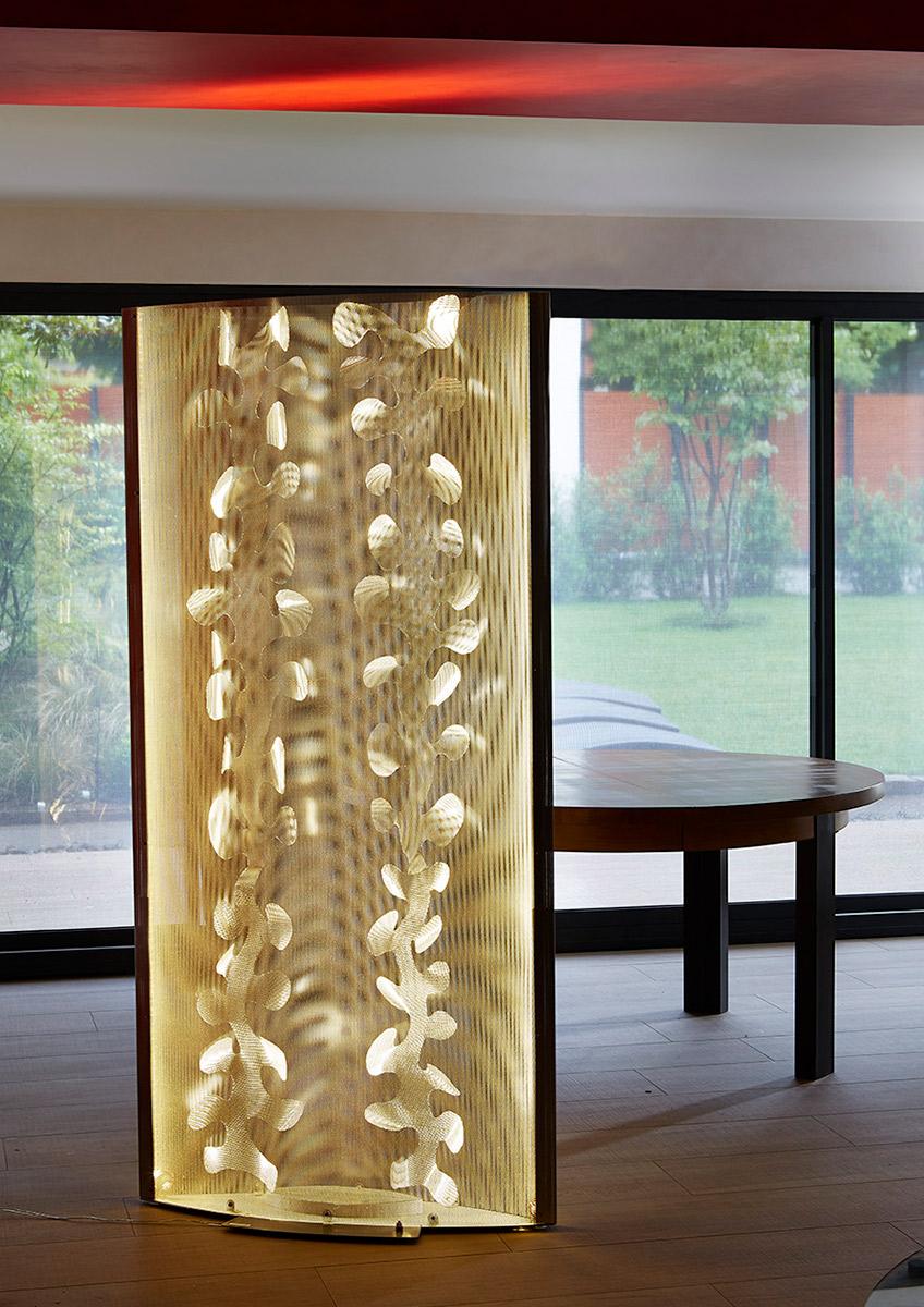 Luminaire Paravent Floral espace bureau Thierry Vidé Design