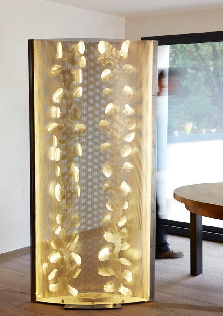 Luminaire Paravent Floral Intérieur Thierry Vidé Design