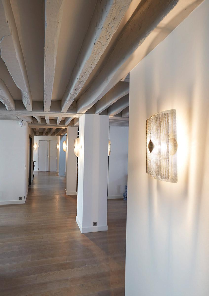 Luminaire applique murale rectangle couloir Thierry Vidé Design