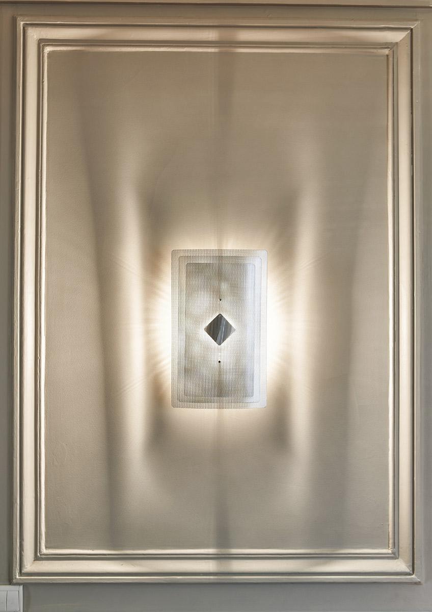 Light wall lamp rectangle zoom Thierry Vidé Design