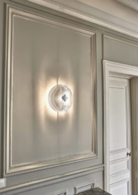 Light wall lamp solar circle Thierry Vidé Design