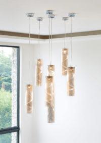Luminaire suspension petite spirale grappe zoom Thierry Vidé Design
