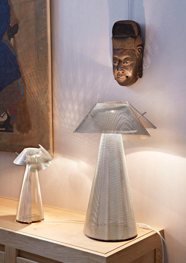 Luminaire Lampe à poser Tourbillon salle à manger Thierry Vidé Design