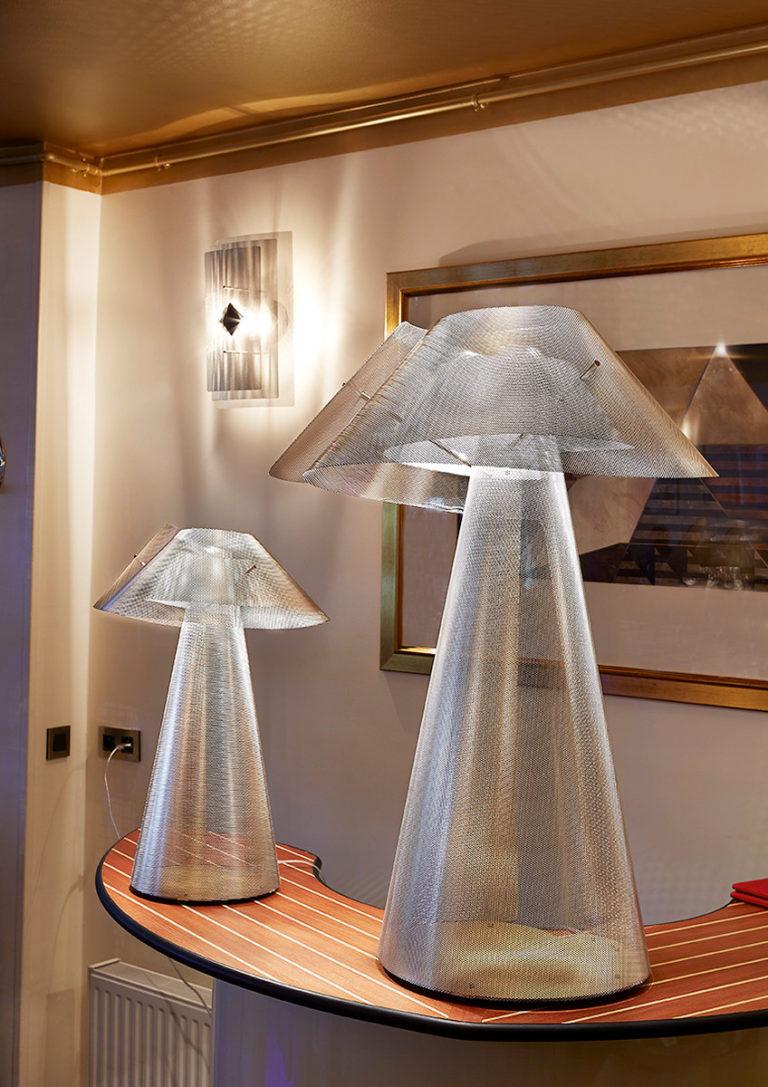 Luminaire Lampe à poser Tourbillon restaurant Thierry Vidé Design