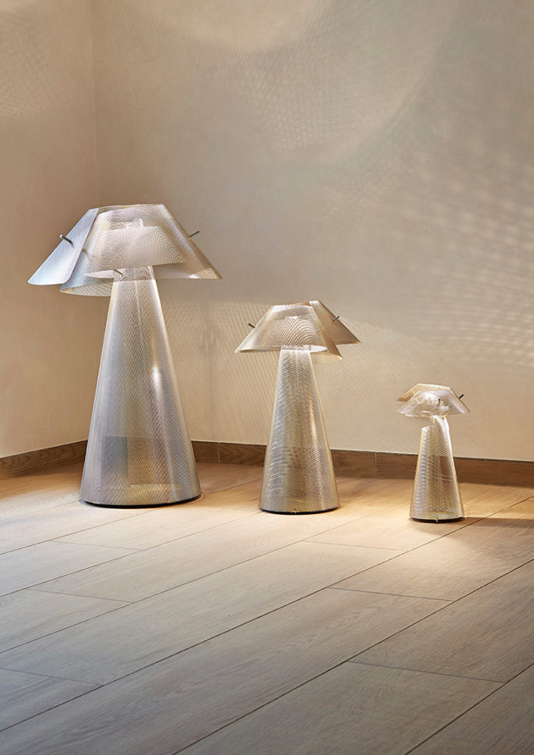 Luminaire Lampe à poser Tourbillon 3 tailles Thierry Vidé Design