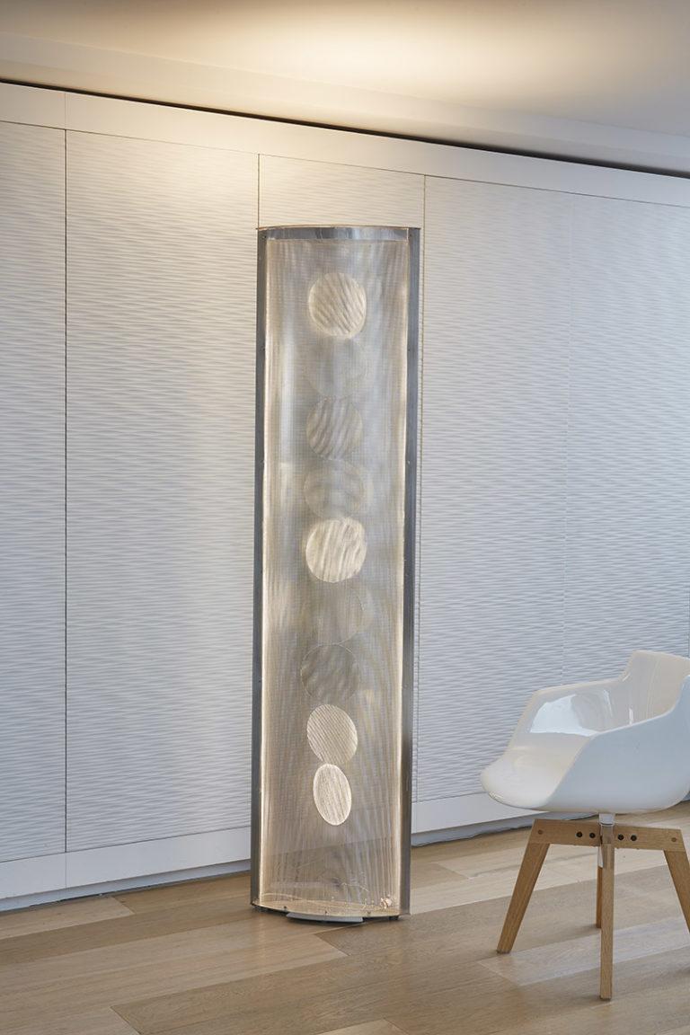 Luminaire Colonne de lumière Aile ronds appartement Thierry Vidé Design