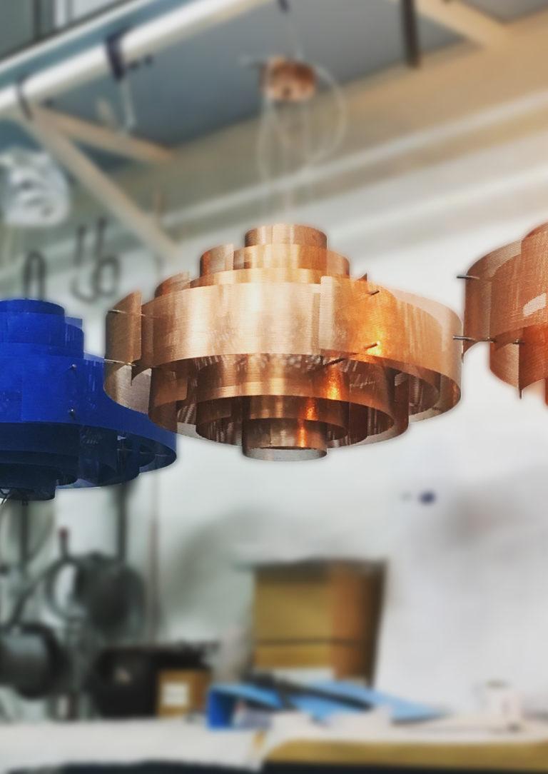 Luminaire Suspension Galaxie - cuivre - Thierry Vidé Design