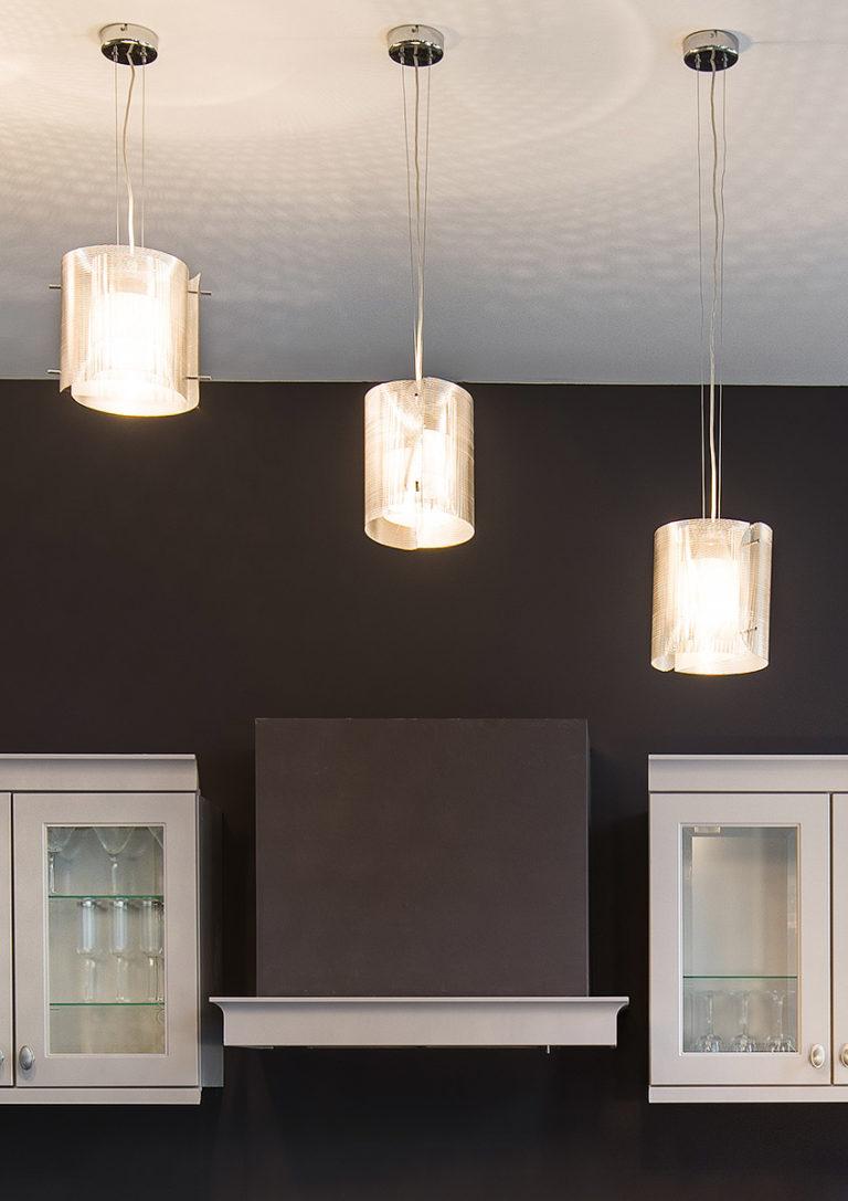 Luminaire Suspension Ellipse hôtel Bruxelles Thierry Vidé Design