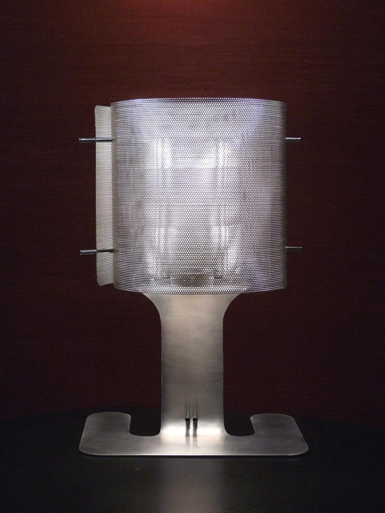 Light Ellipse lamp full face stainless steel Thierry Vide Design