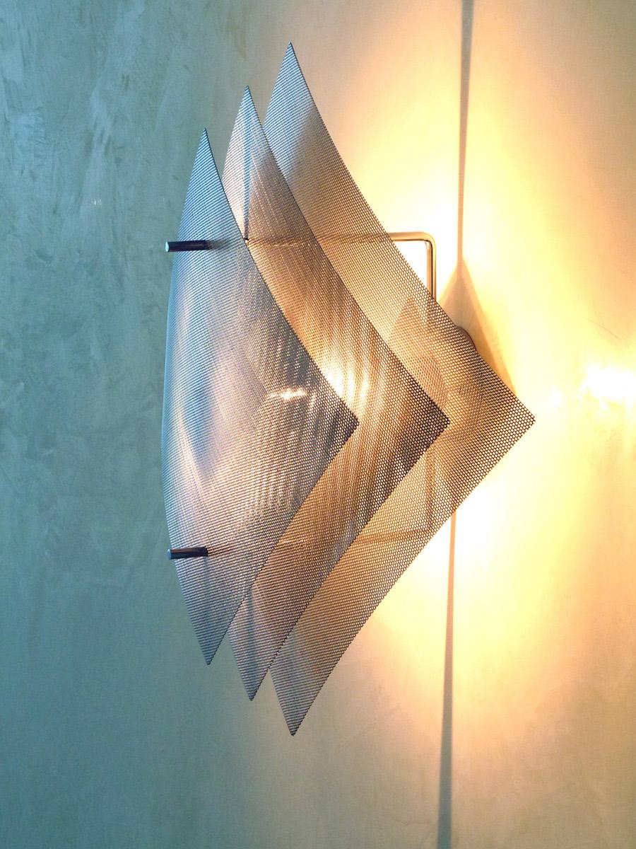 Luminaire applique murale grande Éclipse de côté Thierry Vidé Design