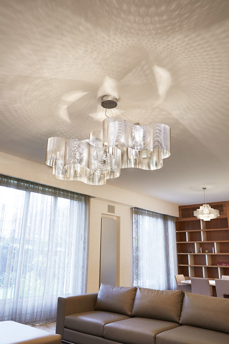 Lighting Suspension Cloud biggest size in living room with galaxy Thierry Vidé Design