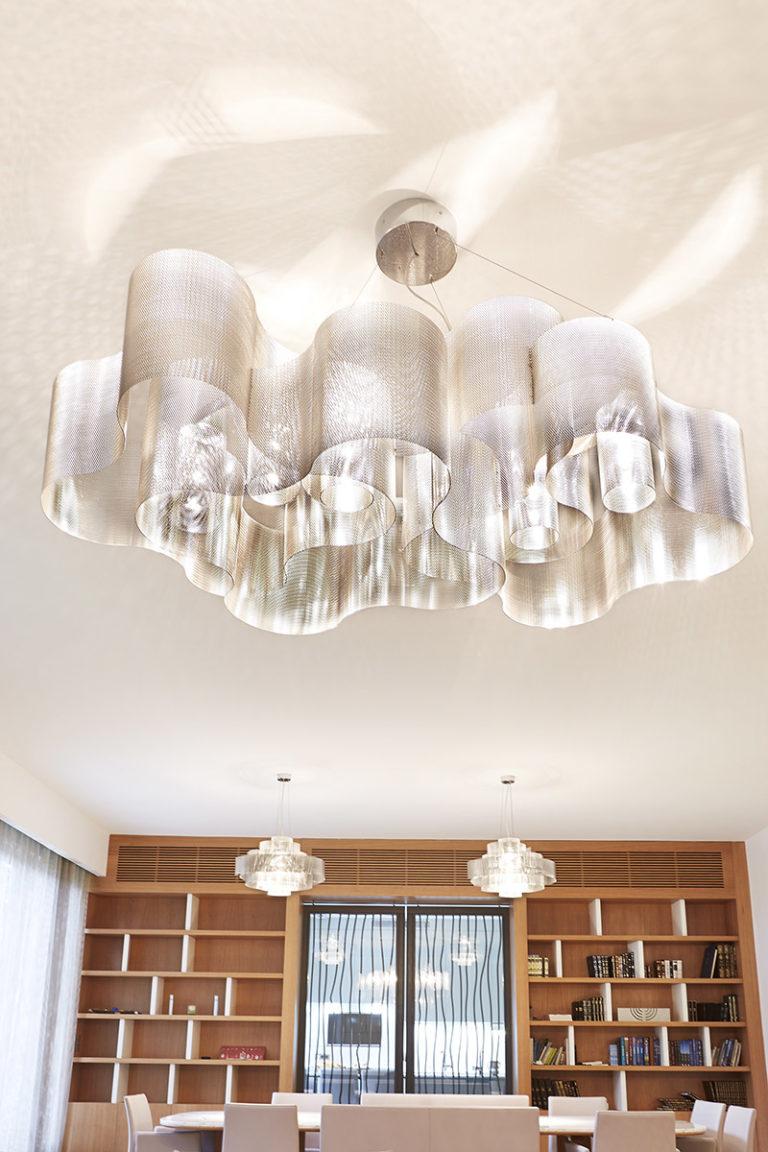 Lighting Suspension Cloud biggest size in living room Thierry Vidé Design