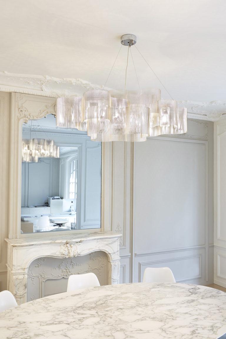 Lighting suspension Cloud medium size office paris Thierry Vidé Design