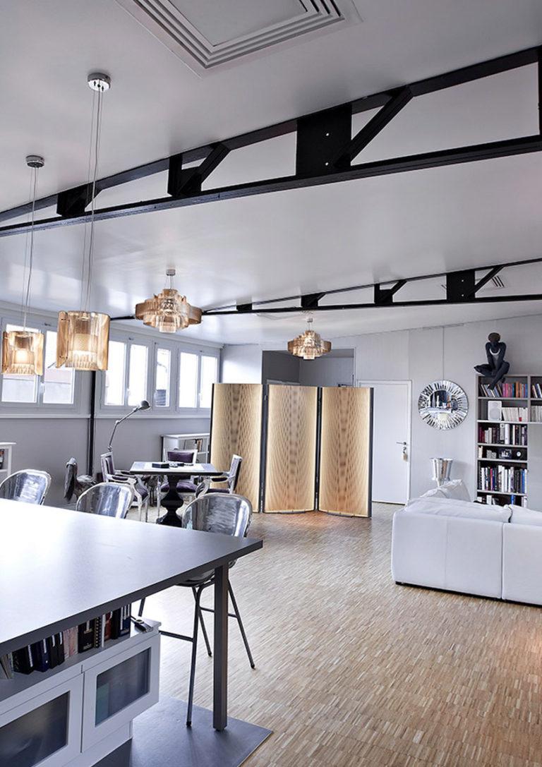 Luminaire paravent design cuisine Thierry Vidé Design