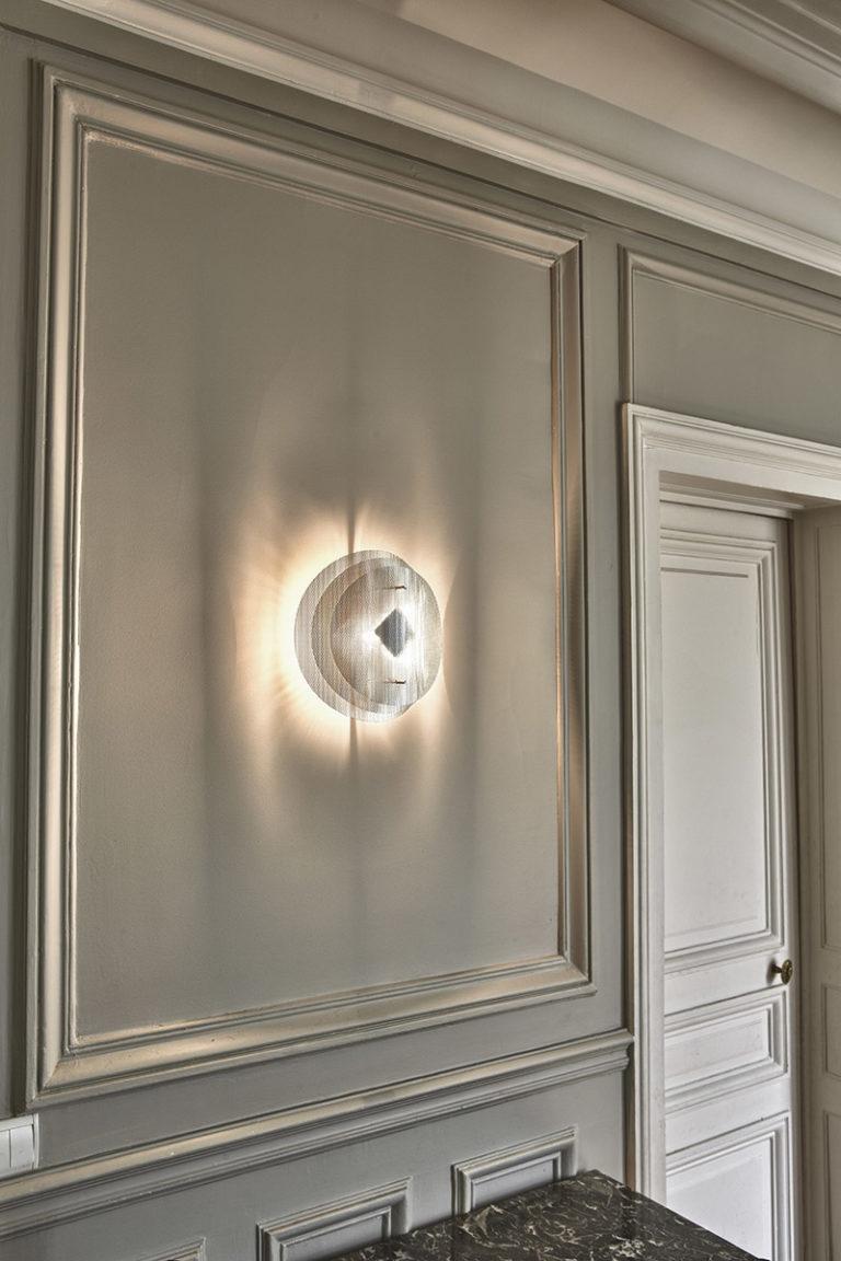 Lighting wall lamp solar circle Thierry Vidé Design