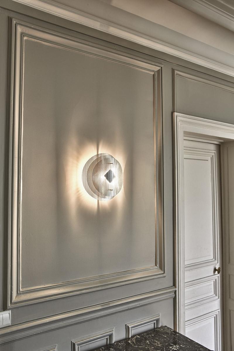 Luminaire applique murale solaire ronde Thierry Vidé Design