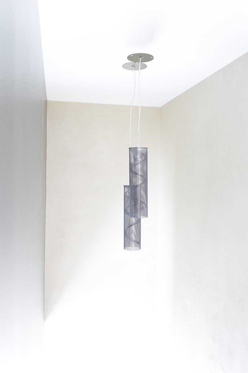 Lighting Spiral Suspension small size in black Thierry Vidé Design