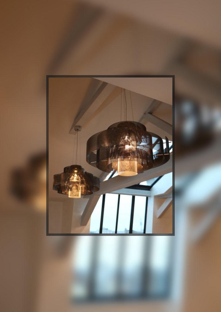 Luminaire Suspension Galaxie - Canon de fusil - Thierry Vidé Design