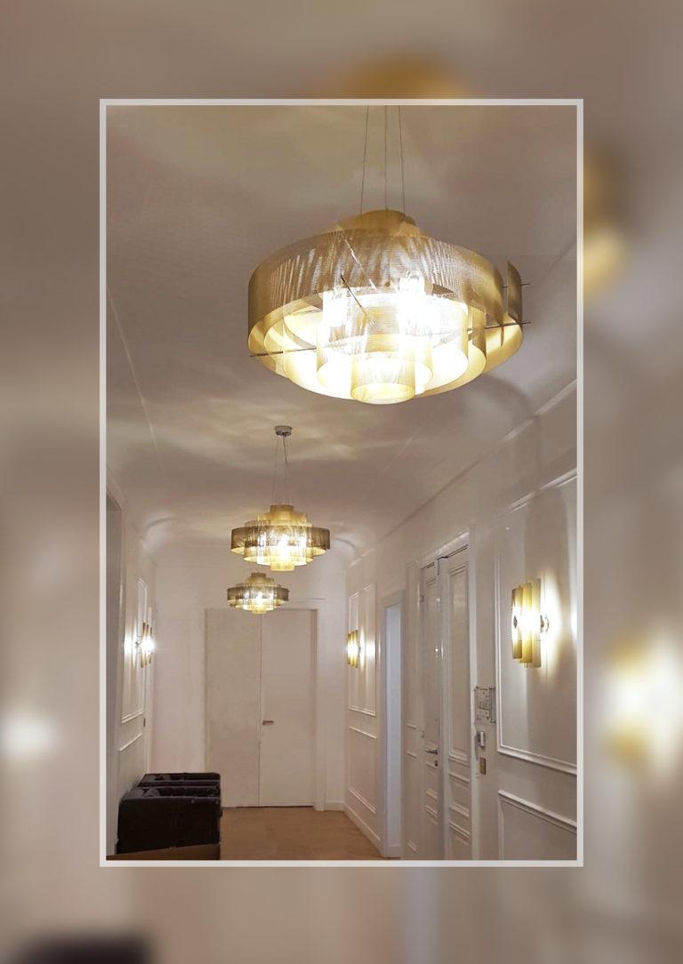 Luminaire Suspension Galaxie - or - Thierry Vidé Design