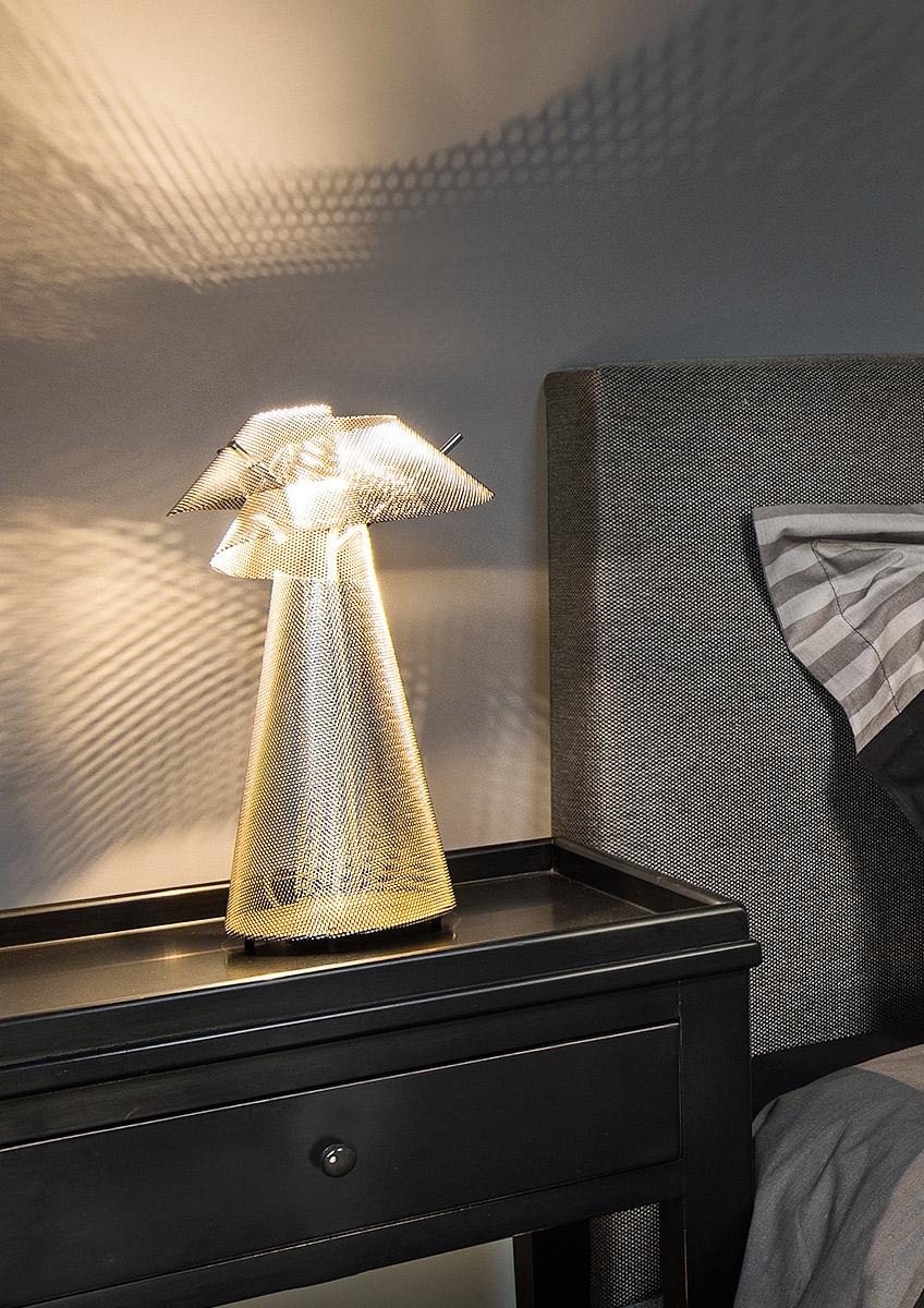 Luminaire Lampe à poser Tourbillon hôtel Thierry Vidé Design