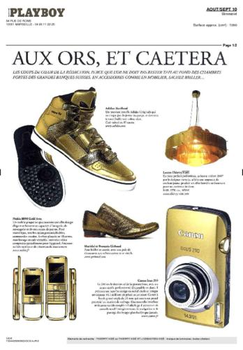 Playboy Magazine Thierry Vidé Août Septembre 2010