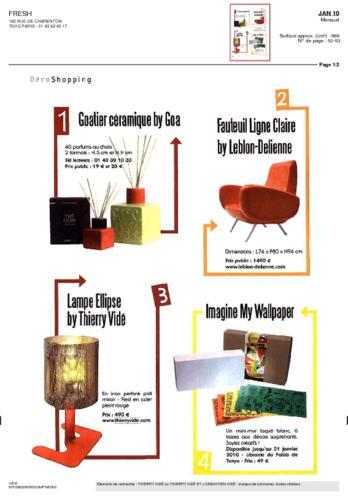 Fresh Magazine Thierry Vidé Janvier 2010