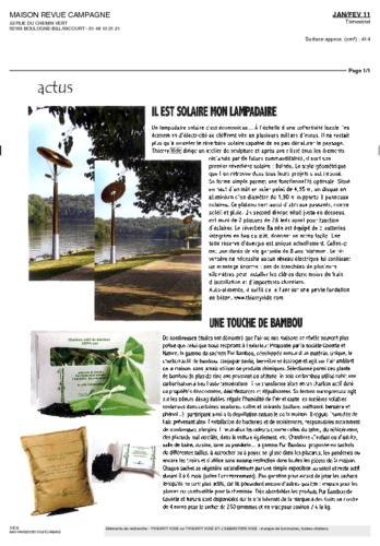 Maison revue Campagne Thierry Vidé février Janvier Février 2011