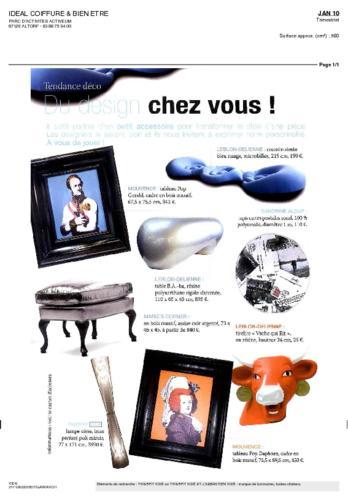 Idéal Coiffure & Bien être Magazine Thierry Vidé Janvier 2010