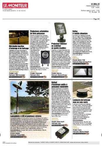 Le Moniteur Thierry Vidé Mai 2010