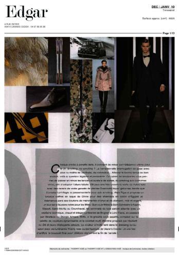 Edgar Magazine Thierry Vidé Janvier 2010
