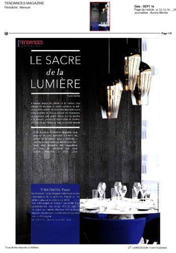 Tendance Magazine Thierry Vidé Septembre 2016