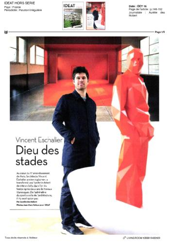 IDEAT Magazine Thierry Vidé Septembre 2016